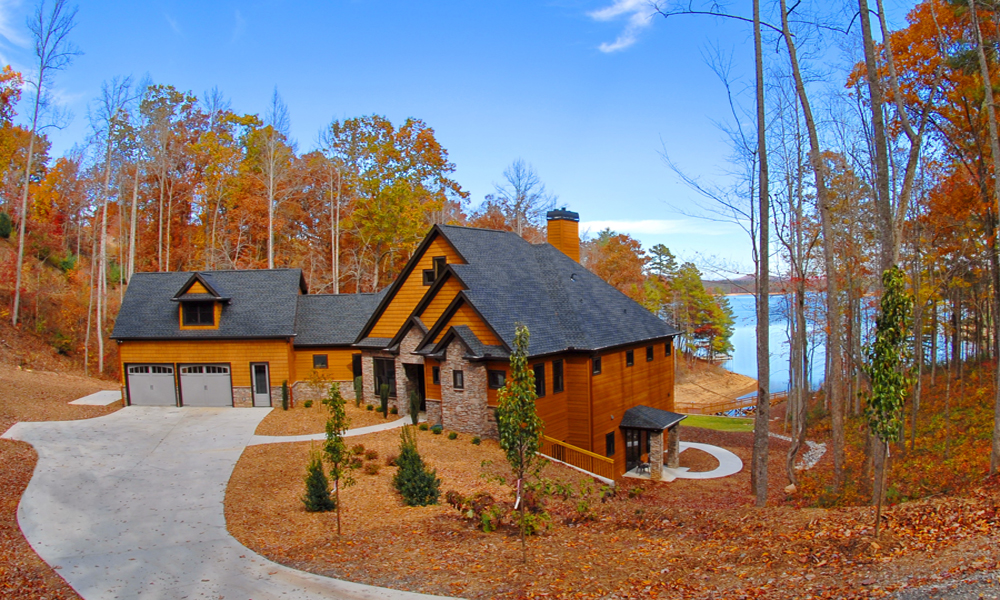 Mountain Lake Living front view