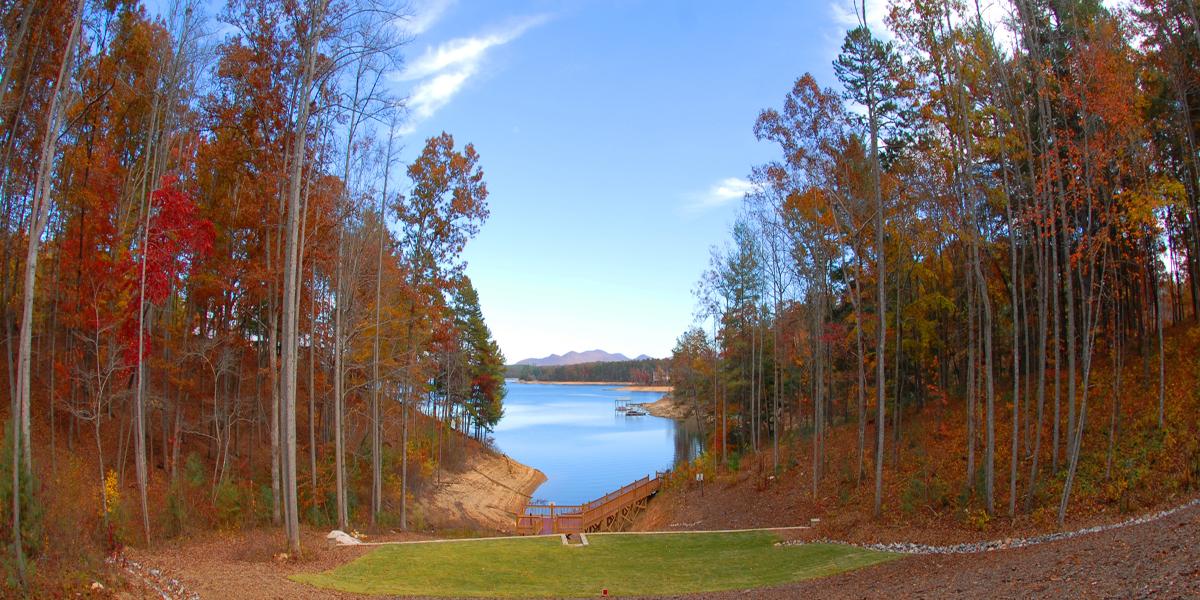 Mountain Lake Living Rear View