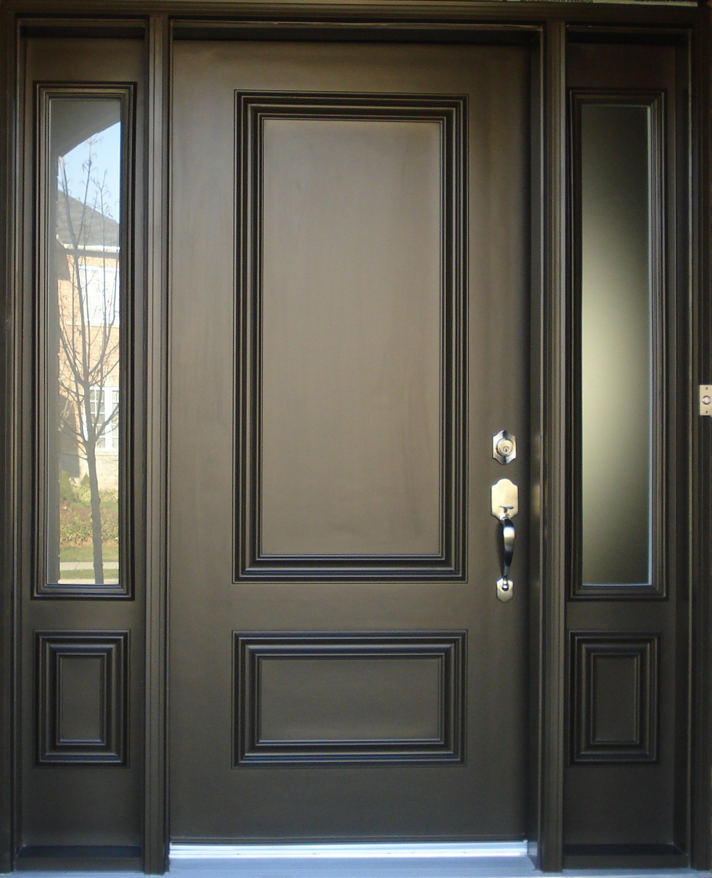 Exterior doors c h custom built quality homes for Front entrance doors